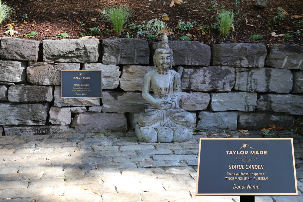 Taylor Made Addiction recovery on site statue garden for sponsorship