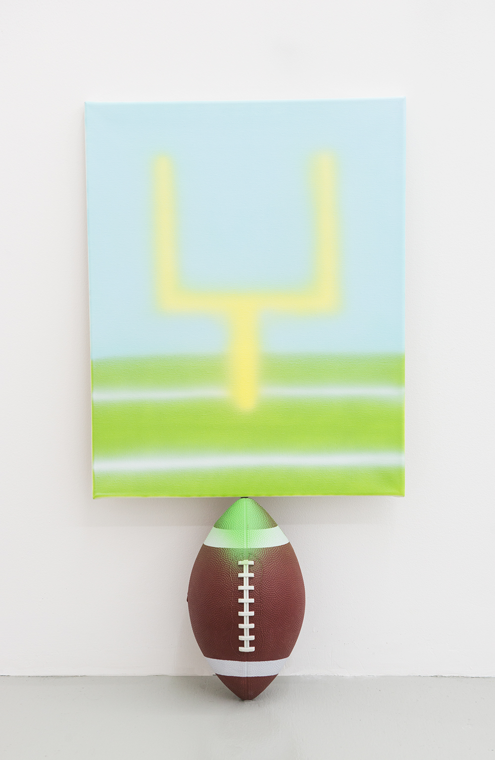 Jonny Paul Gillette goal on football ball, 2015 Acrylic polymer on canvas, football ball