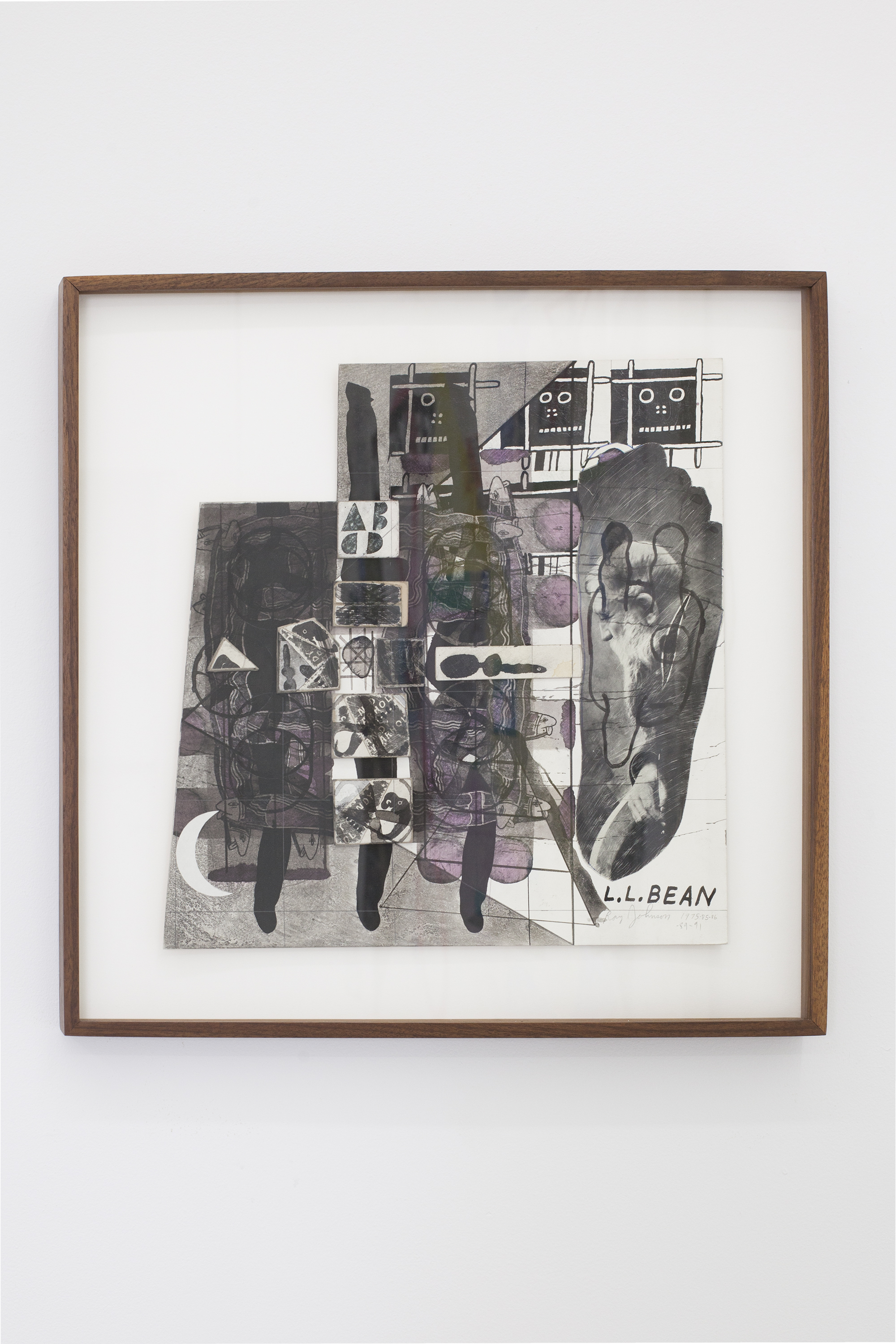 Ray Johnson Untitled (L.L. Bean), 1975-1991 Collage on illustration board © Ray Johnson Estate, Courtesy Richard L. Feigen & Co.