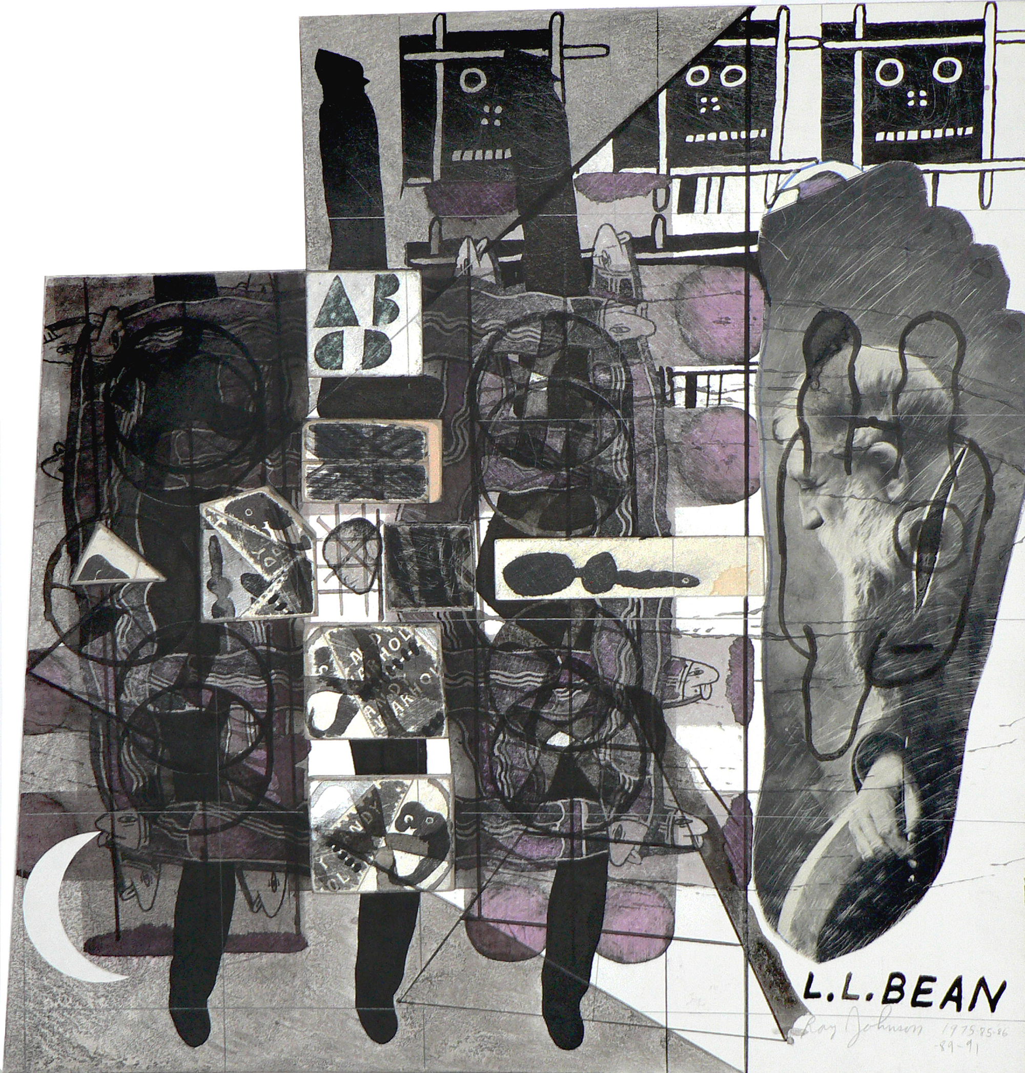 Ray Johnson Untitled (L.L. Bean) (Detail), 1975-1991 Collage on illustration board © Ray Johnson Estate, Courtesy Richard L. Feigen & Co.Ray Johnson