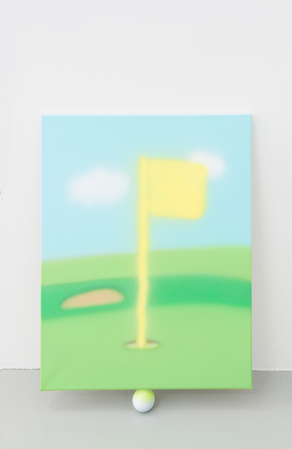 Jonny Paul Gillette goal on golf ball, 2015 Acrylic polymer on canvas, golf ball  2015
