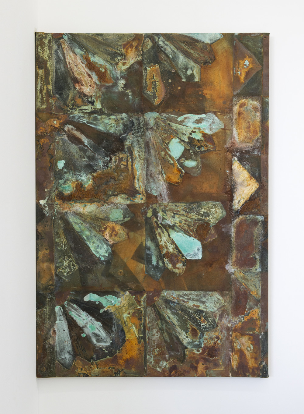Nickolas Calabrese Tommy Ligotti, 2015 Iron, Copper, Bronze, Brass, Acrylic Polymers, Dye, Graphite and Inkjet on Canvas