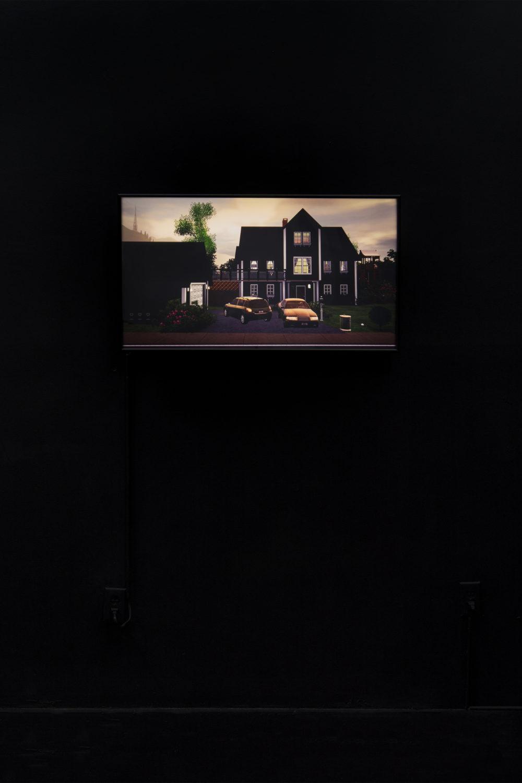 Jacky Connolly Strange Weather (The Divorce), 2016 Duratrans backlit film, fluorescent light box
