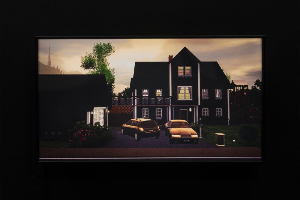 Jacky Connolly Strange Weather (The Divorce) (Detail), 2016 Duratrans backlit film, fluorescent light box