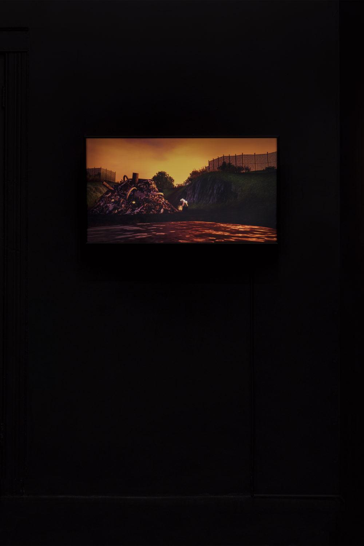 Jacky Connolly Majella (Dirty Fill), 2016 Duratrans backlit film, fluorescent light box