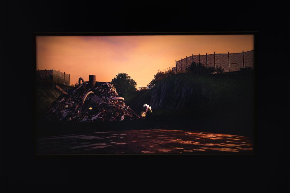 Jacky Connolly Majella (Dirty Fill) (Detail), 2016 Duratrans backlit film, fluorescent light box