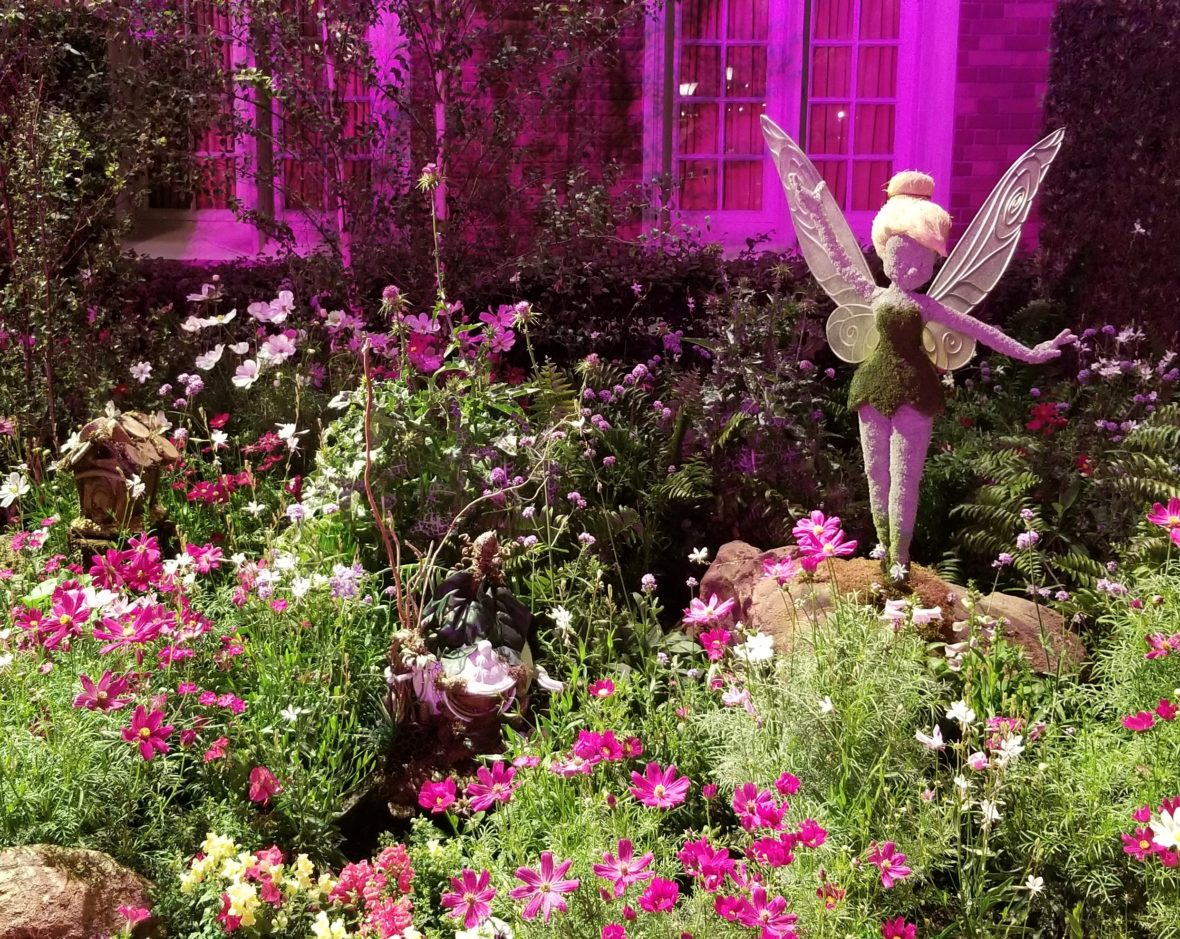 Tinker Bell Topiary in the Garden