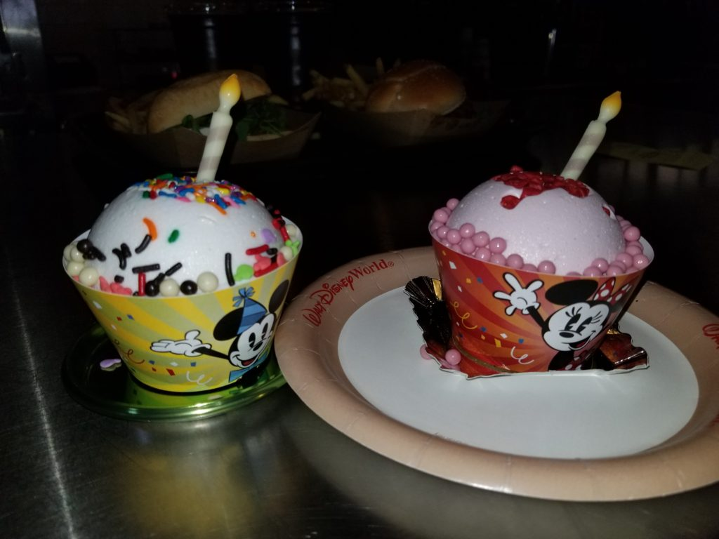 The Mickey and Minnie Celebration Cakes at Backlot Express in Disney's Hollywood Studios