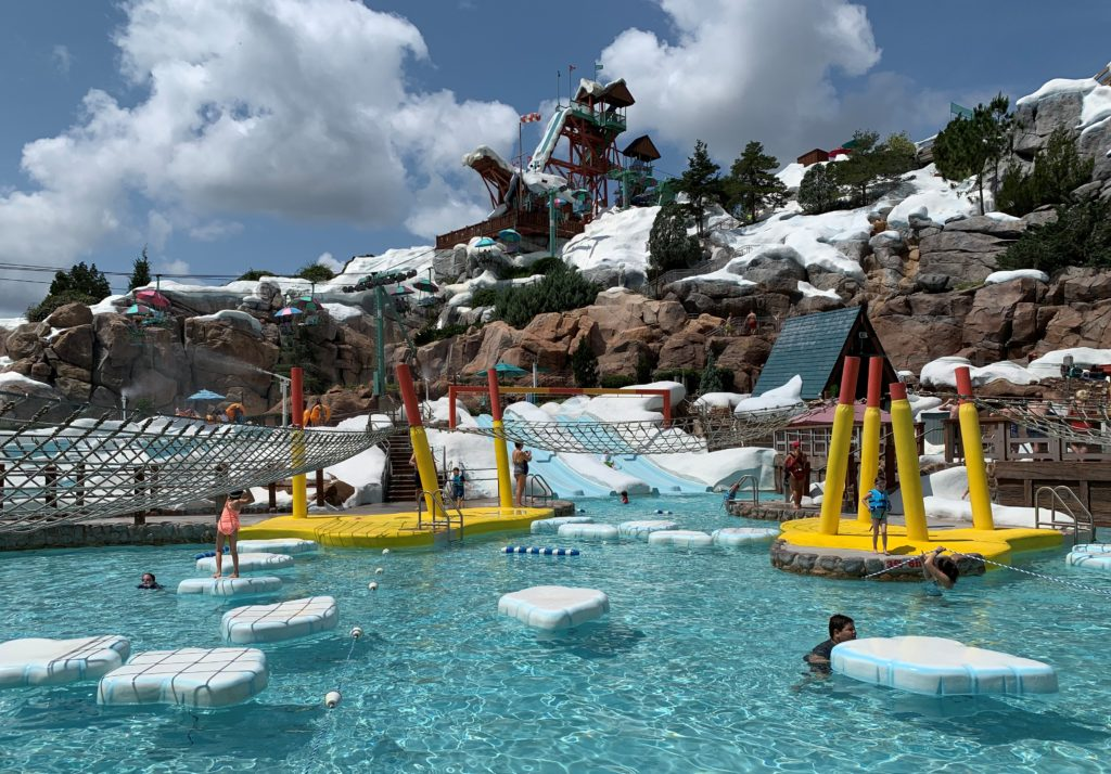 Kids playing at the Ski Patrol Training Camp at Blizzard Beach.