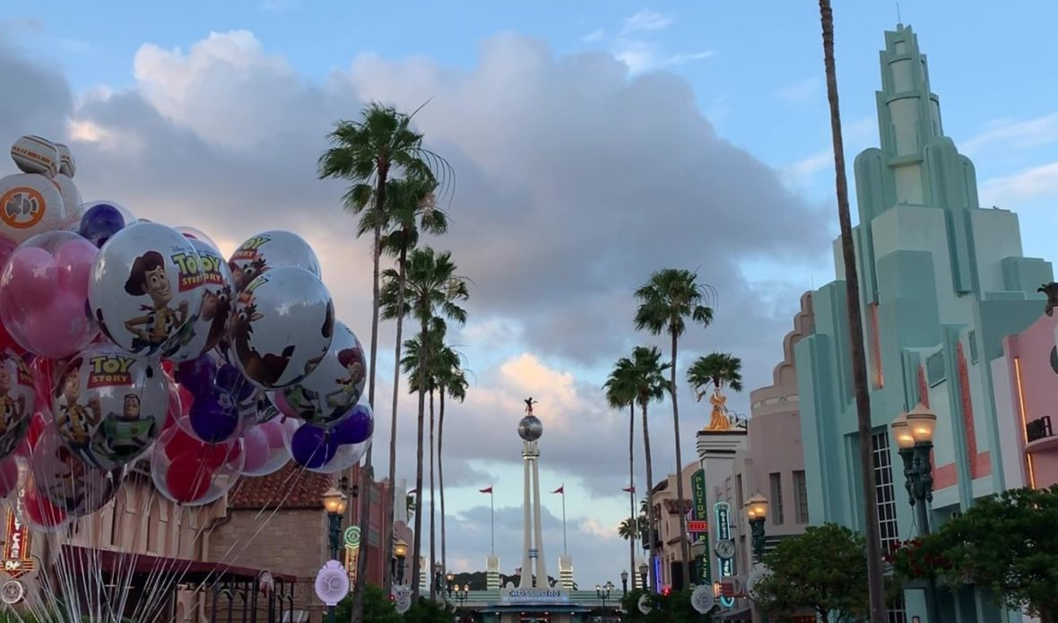 Sunset Blvd in Disney's Hollywood Studios with Balloons