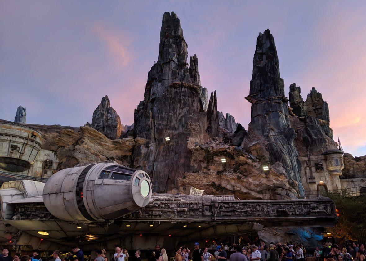 The Millennium Falcon in Star Wars: Galaxy's Edge in WDW