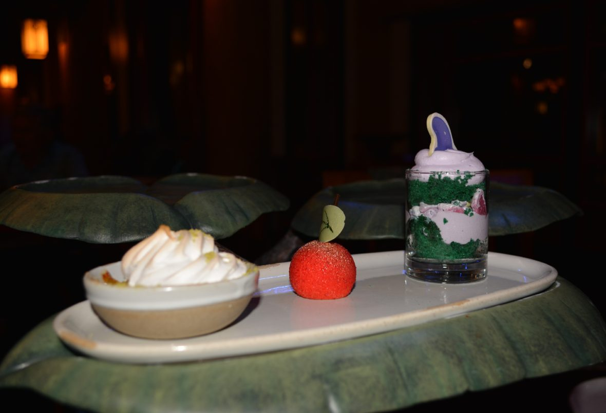 A Trio of Themed Desserts from Story Book Dining at Artist Point with Snow White