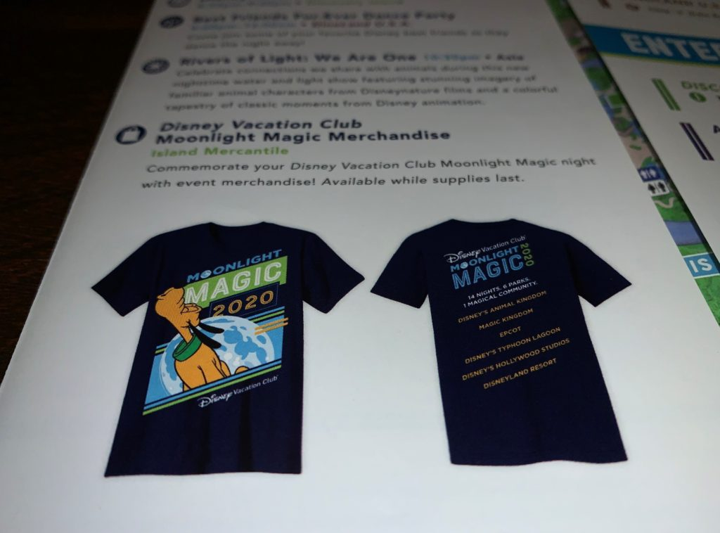 Exclusive Merchandise for DVC Moonlight Magic 2020