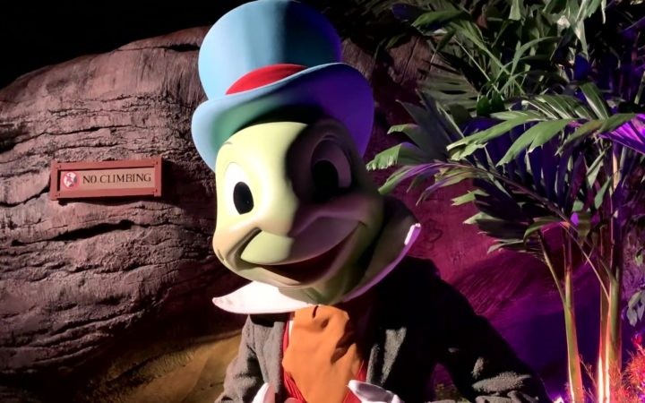 Jiminy Cricket at the DVC Moonlight Magic 2020 Event in Animal Kingdom