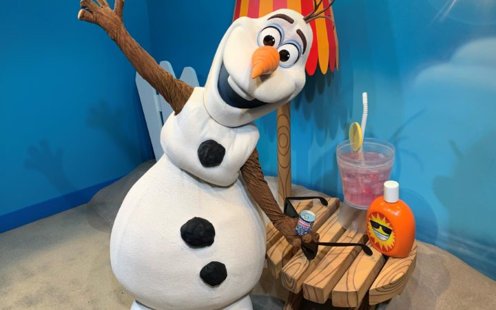 Meeting Olaf...in Summer with his Backup Flurry