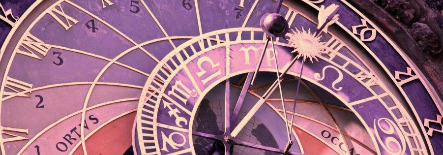 Astronomy clock sm clr 50 - 64 purple 901x315
