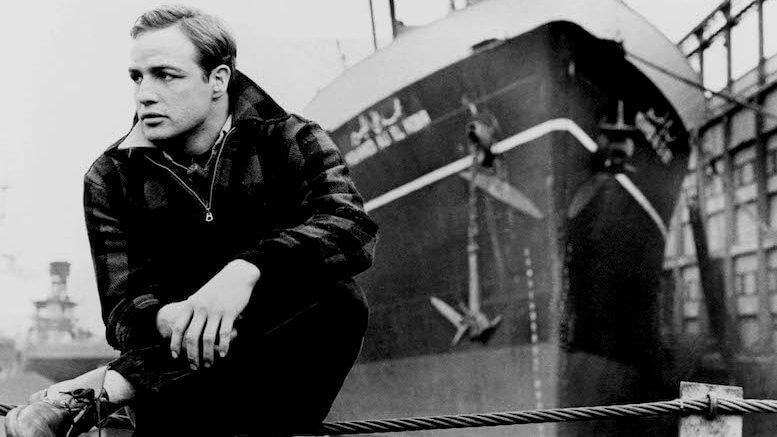 Actor Marlon Brando on the waterfront
