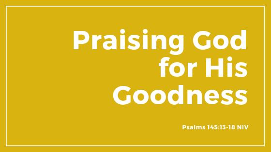 """Praising God For His Goodness"" - Sermon"