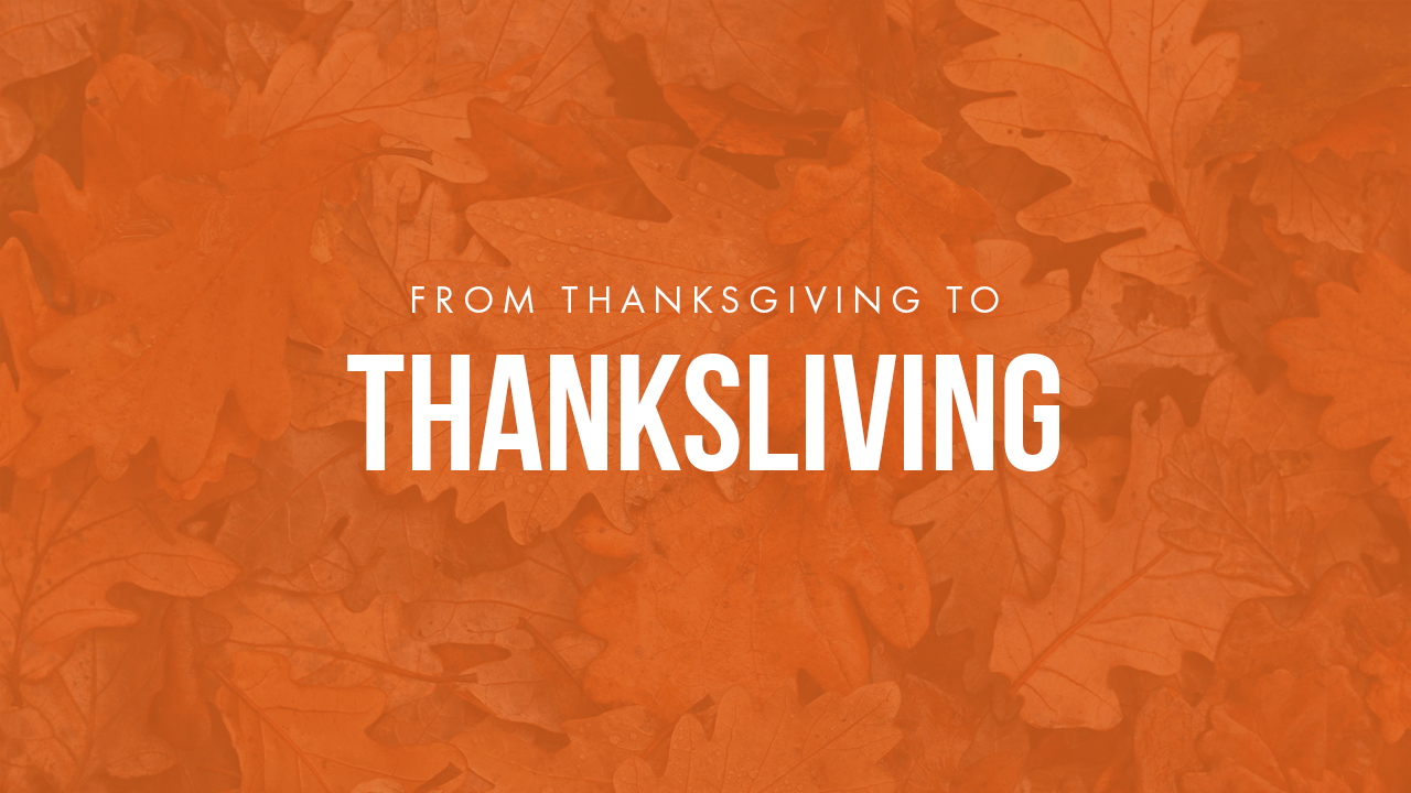 From Thanksgiving To Thanksliving