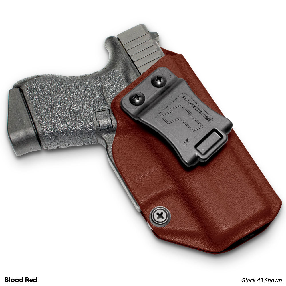 Glock 43 in Tulster Blood Red Holster