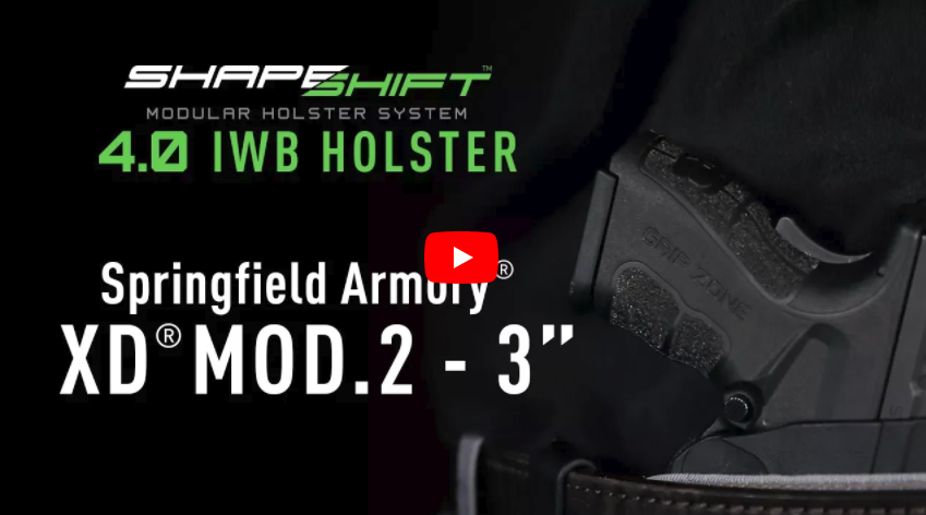 Alien Gear Holsters ShapeShift 4 0 IWB Holster for Springfield XD Mod 2 Subcompact