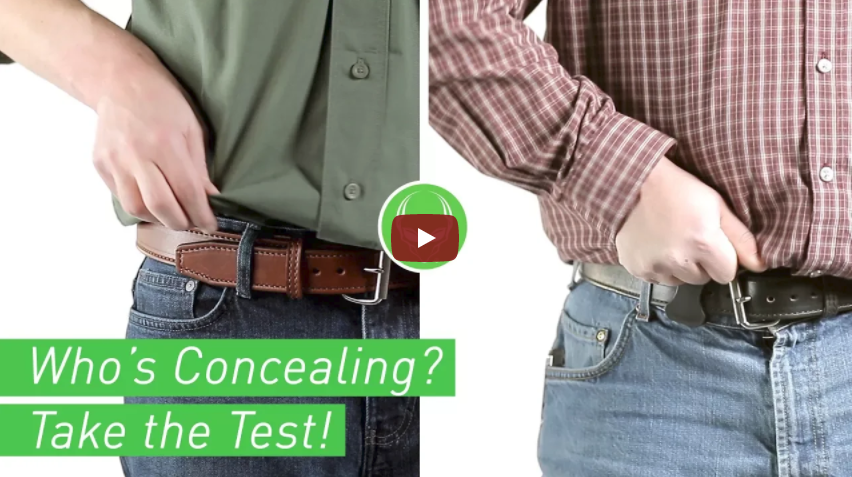 Concealed Holster Test - Can You Tell Who is Carrying a Pistol
