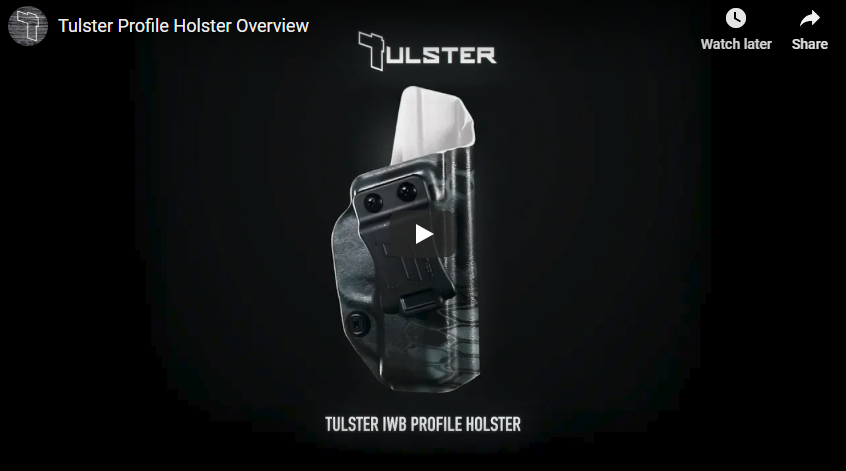 Tulster Profile Holster Overview and Discount Code