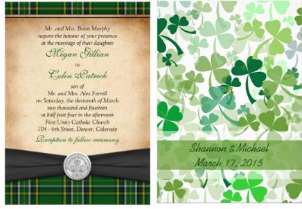St Patricks Day Wedding Invitations