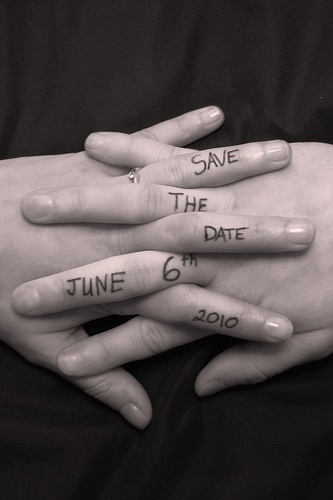 Save the Date Holding Hands