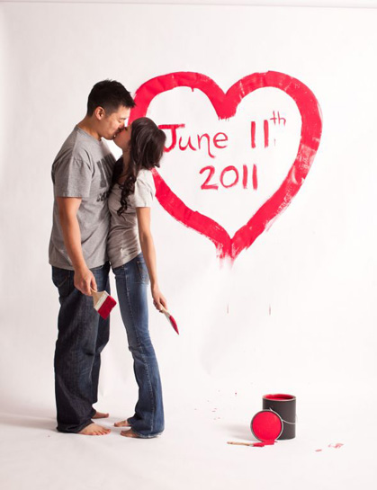 Painted Heart - Save the Date