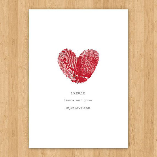 Thumbprint Save the Date