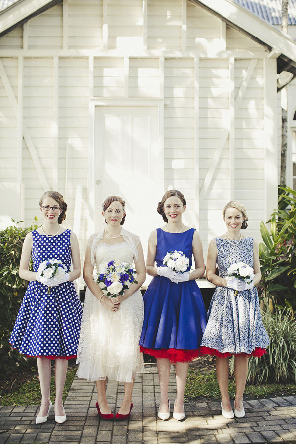 Same Dress Different Patterns Bridesmaids