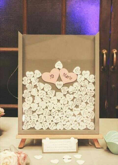 Shadow Box Frame  Wedding Guest Book