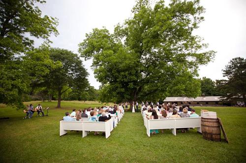 Rustic Wedding Ceremony at Vinewood Plantation Georgia