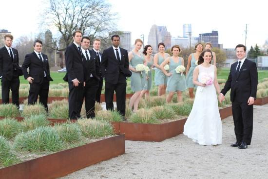 Wedding party in Michigan