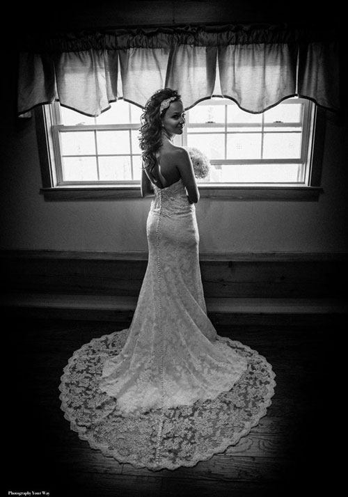Bride By the Window at Zorvino Vineyards