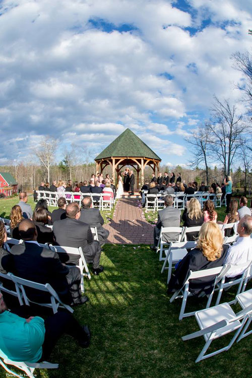 Wedding Ceremony at Vineyard Wedding