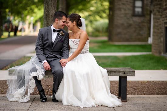 Bride and Groom Pose Philadelphia