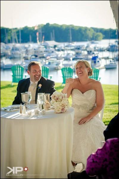 Sassafras River harbor maryland wedding