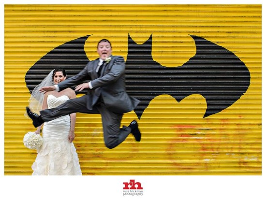 Groom with Batman Logo