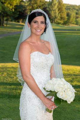 Bride at Georgetown MA Wedding