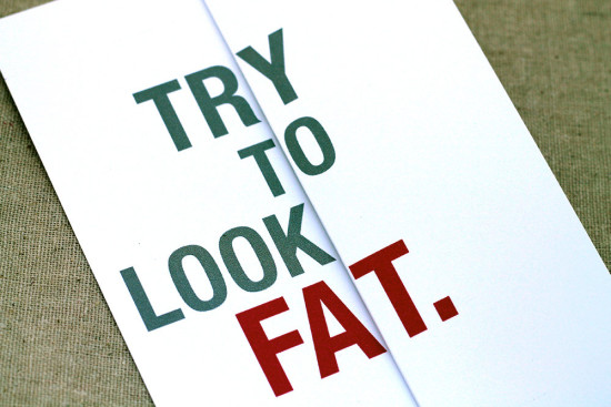 Try to look fat - Funny Bridesmaids cards