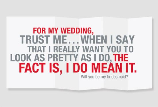 Funny Bridesmaid Card