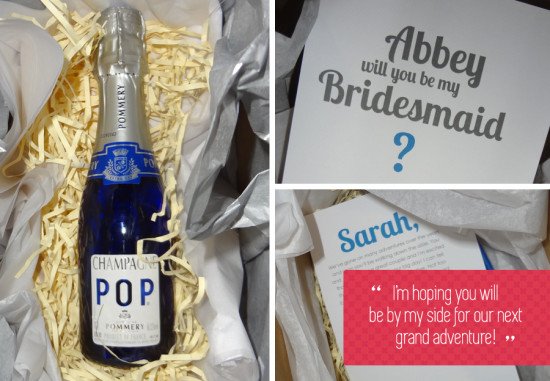 Will You Be My Bridesmaid Champagne