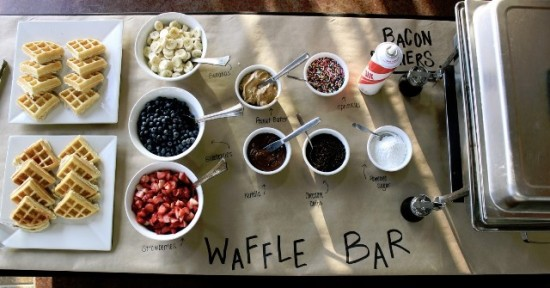 Waffle Bar at Wedding