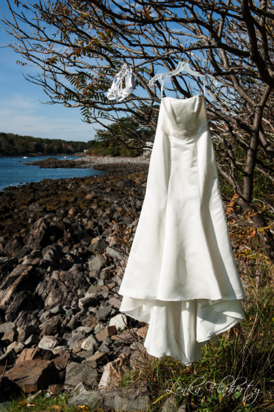 Wedding Dress on Beach