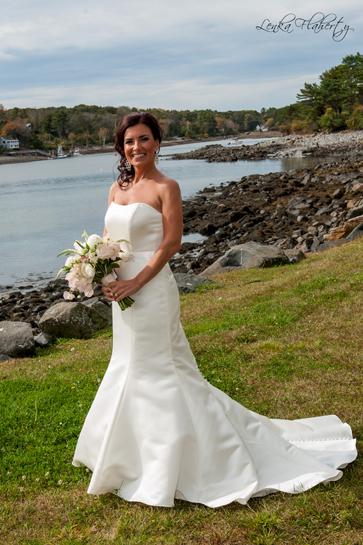 Bride at Wedding in Maine