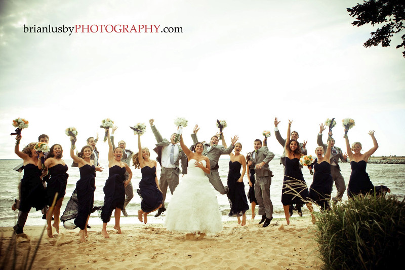 Bridal Party Pose - Virginia Beach