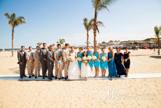 Wedding Party at New Jersey Beach Wedding
