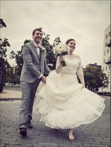 Bride and Groom by e.leise photography Virginia